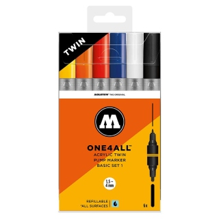 Molotow ONE4ALL ACRYLIC TWIN Basic set 1