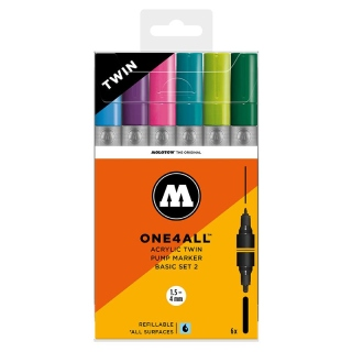 Molotow ONE4ALL ACRYLIC TWIN Basic set 2