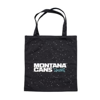 Montana Typo+Stars Cotton Bag (Black)