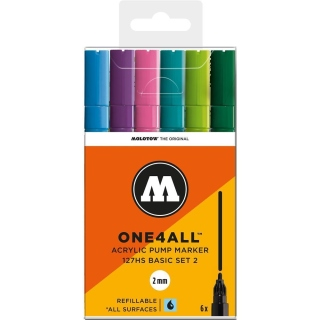 Molotow ONE4ALL 127HS Basic 6er Set 2