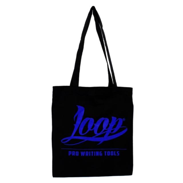 Loop Logo Stoffbeutel (blau)